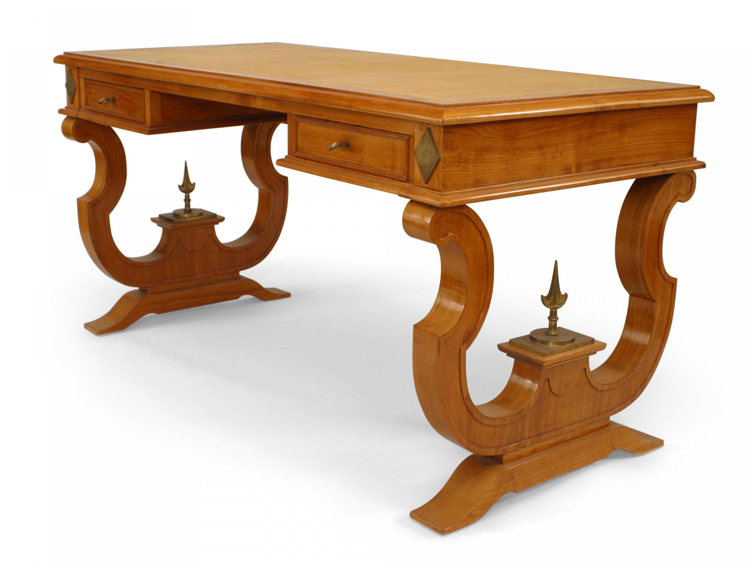 French Ormolu Maple Writing Desk