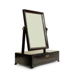 American Mid-Century Ebonized Dressing Table / Vanity Mirror