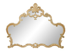 French Louis XV Style Bleached Carved Wall Mirror