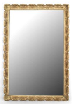 Italian Mid-Century Venetian Style Gilt Scalloped Wall Mirror