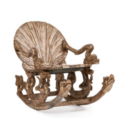 Italian Venetian Grotto Carved Seashell Rocker