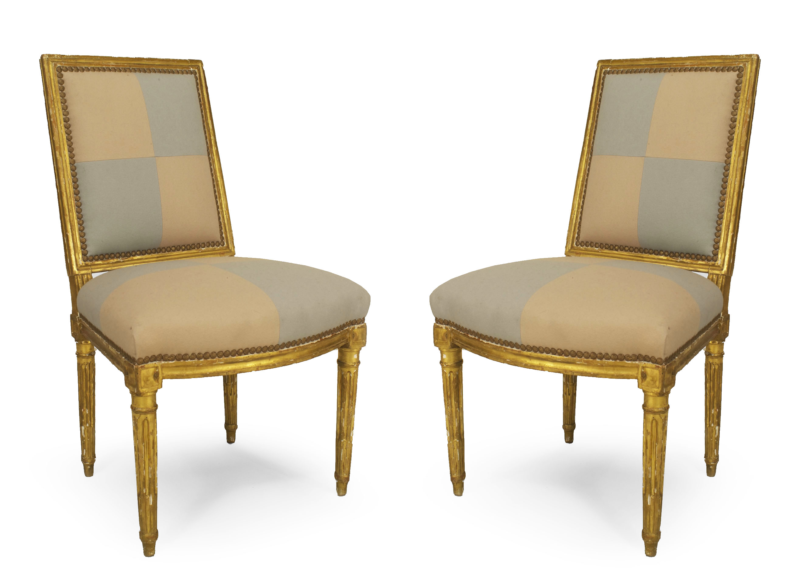 French Louis XVI Gilt Side Chairs