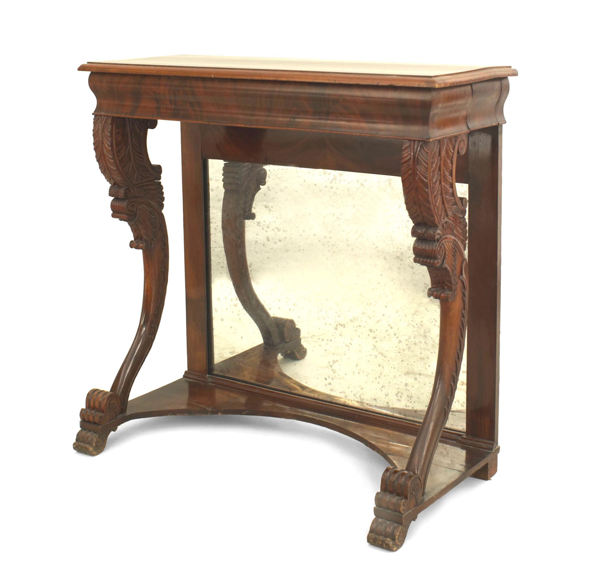 English Regency Mahogany Console Table
