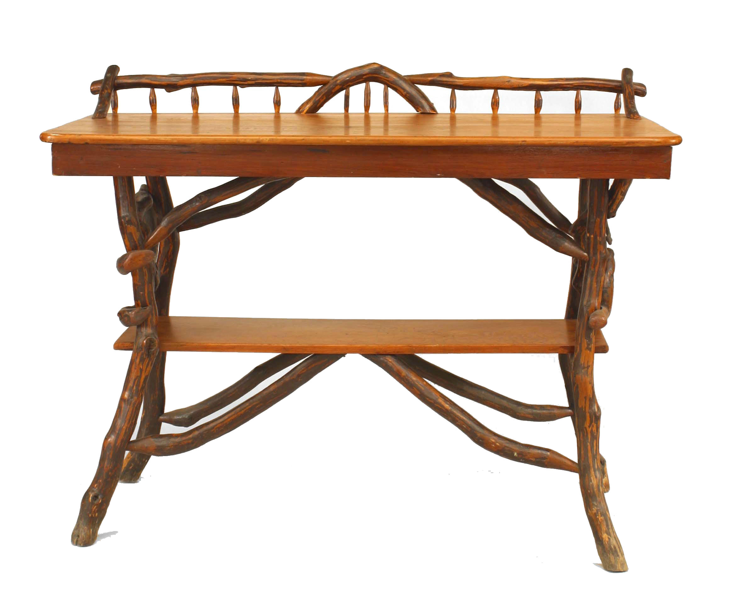 Rustic Adirondack Twig and Pine Console Table