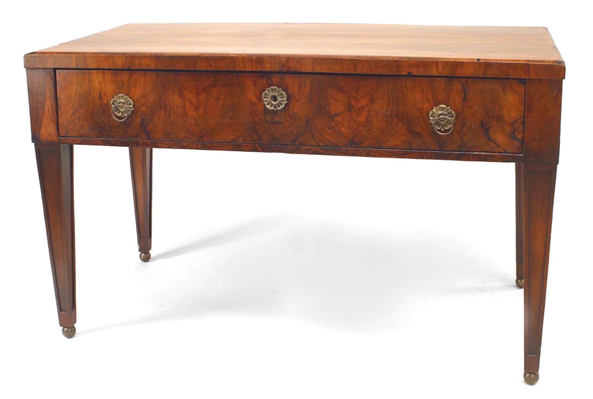 Continental Neo-Classic Style Walnut Writing Table