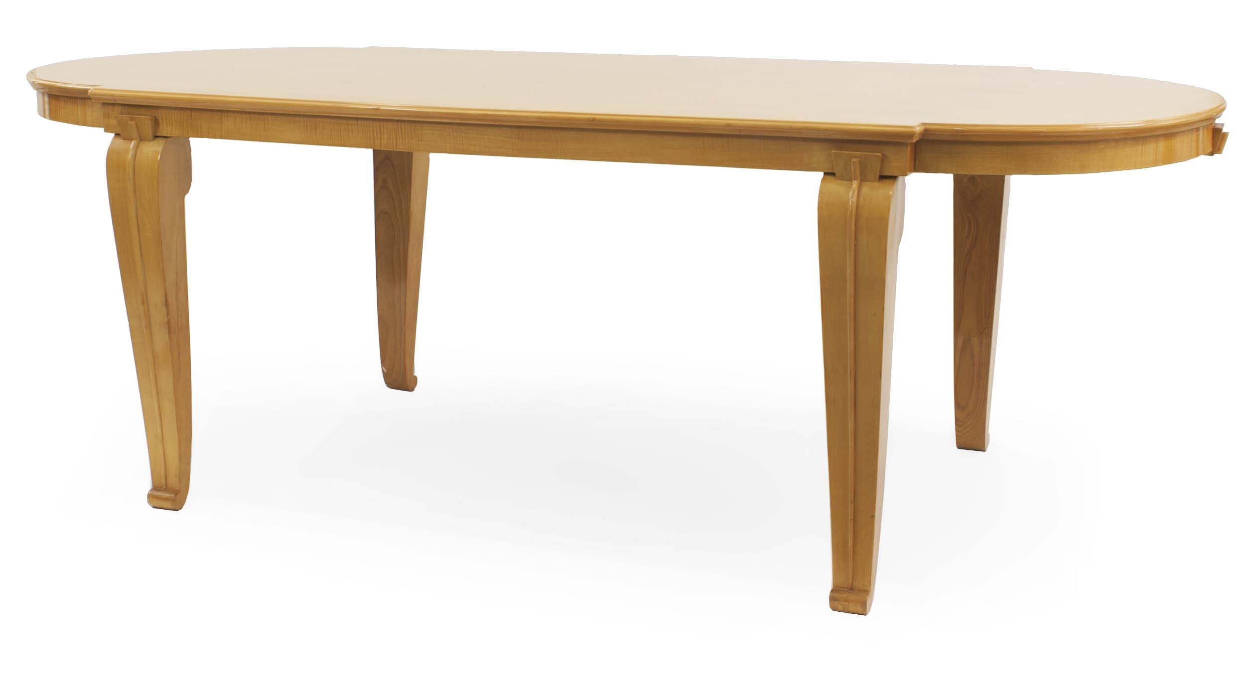 French Mid-Century Sycamore Dining Table