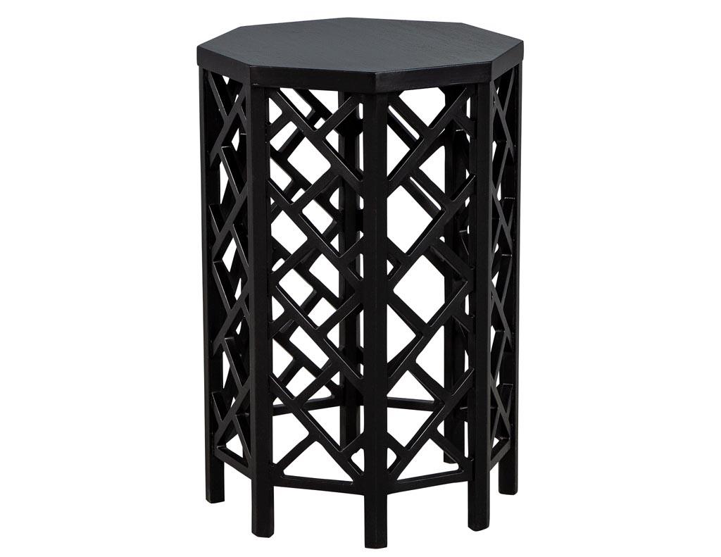 Vintage Geometric End Table