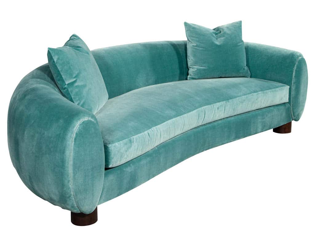 Mid-Century Modern Inspired Curved Sofa by Randall Tysinger