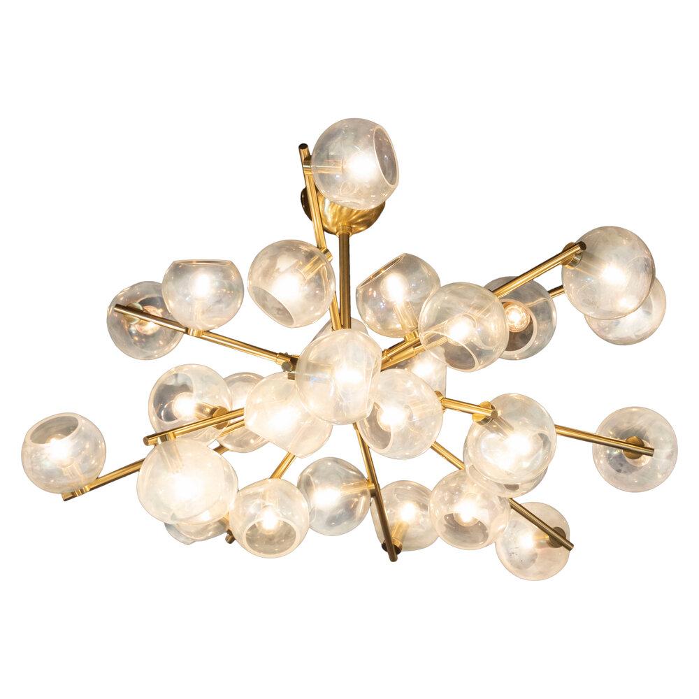 Modernist Murano Glass & Brass