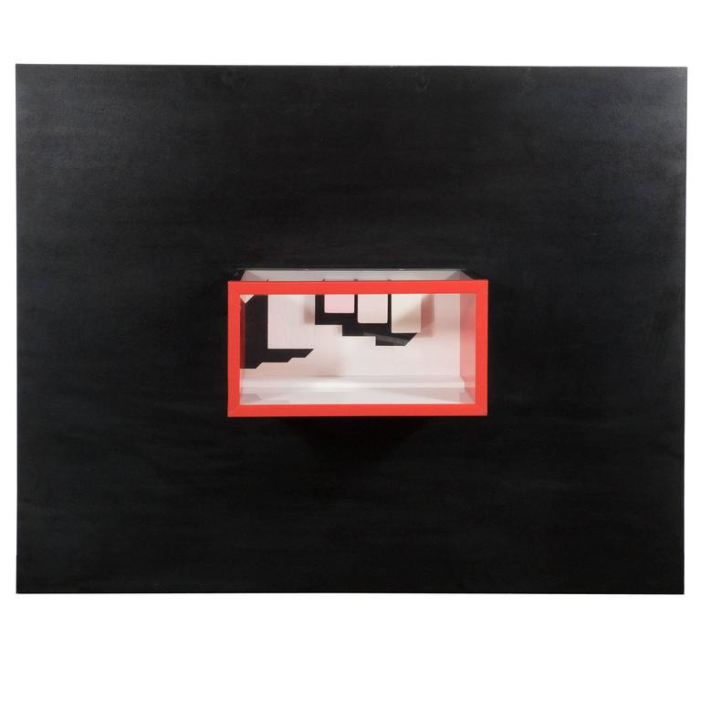 Mid-Century Multimedia Constructivist Style Box Sculpture