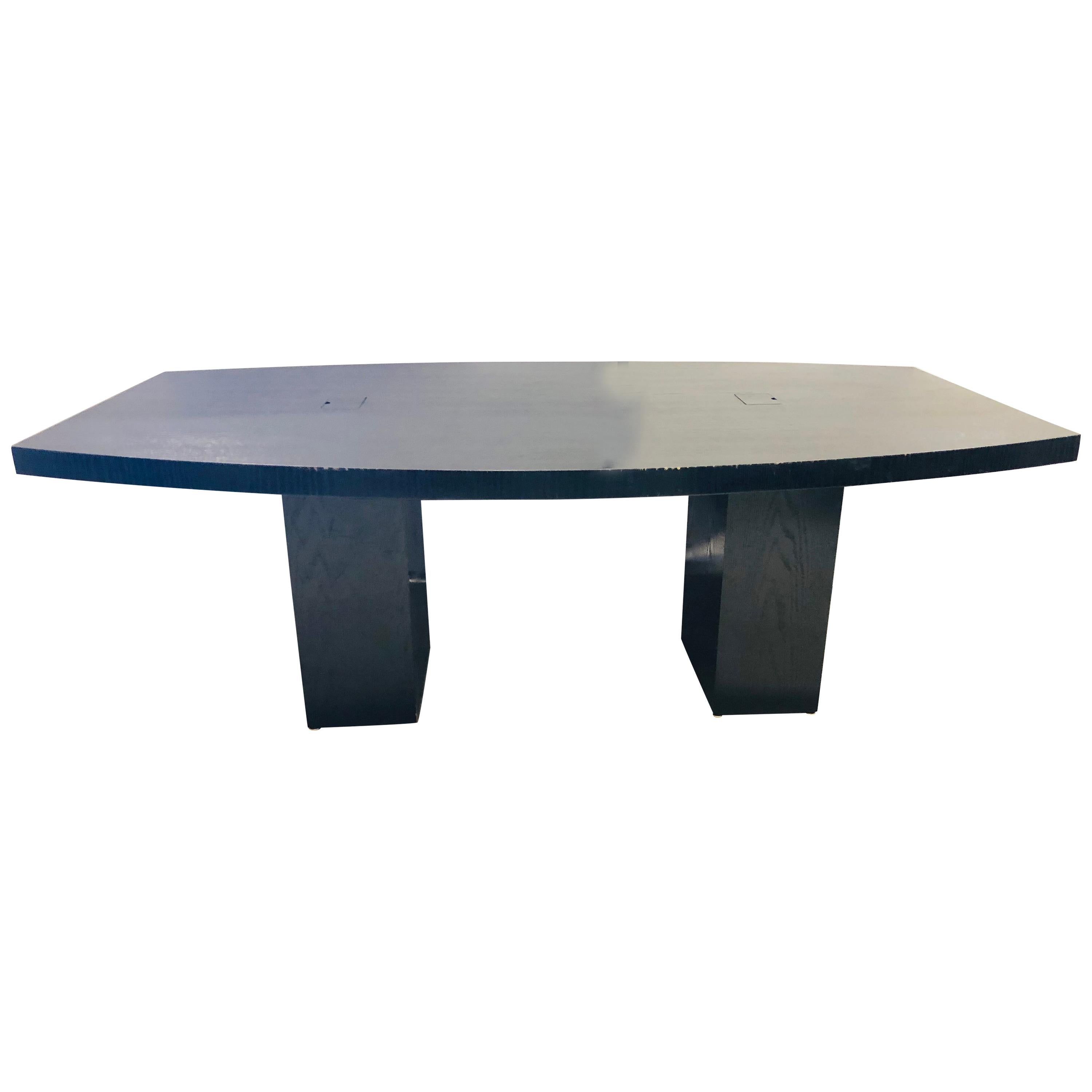 Pace Collection Conference Table, Modern Ebonized Oak, Part of a Set