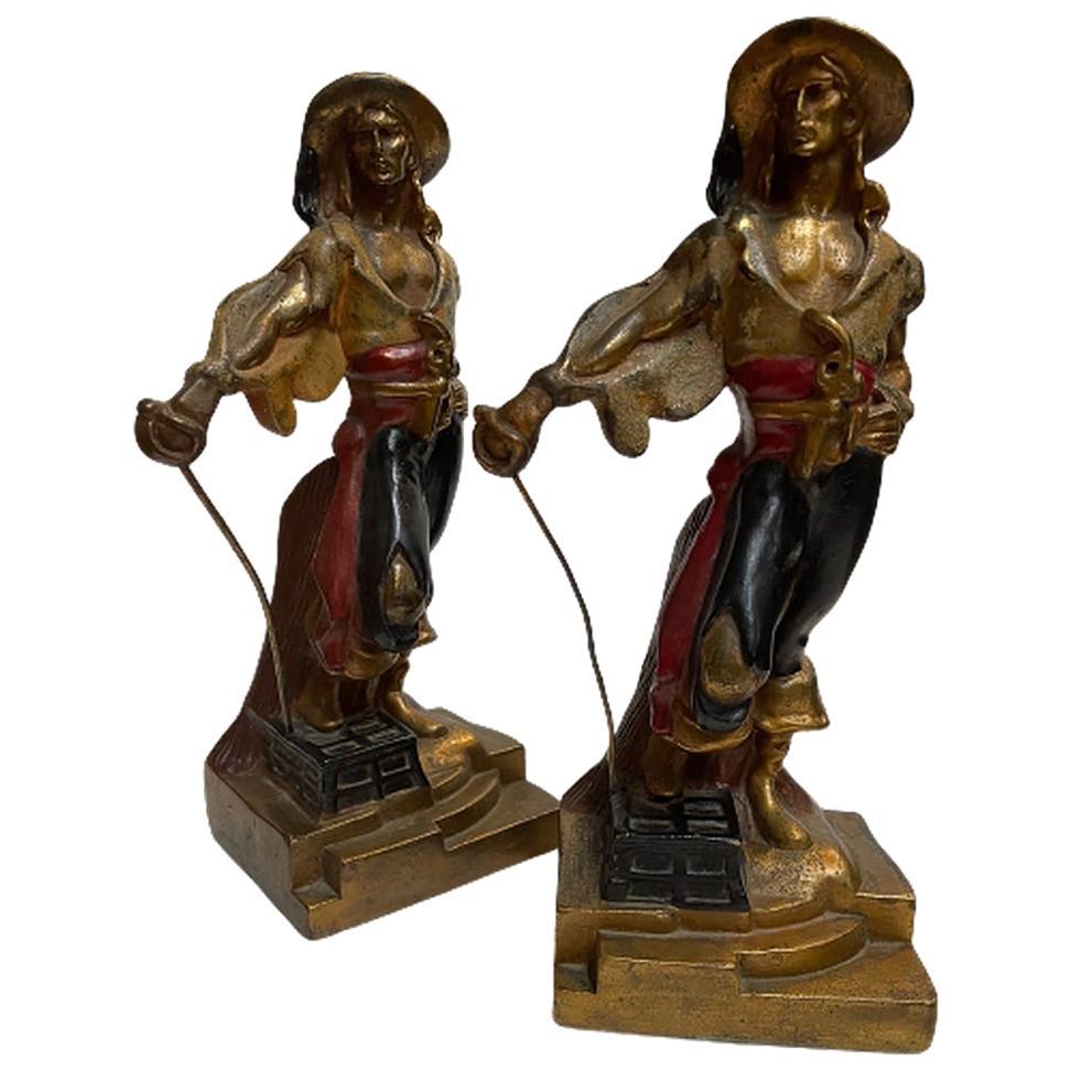 Armor Bronze Swordsman Bookends