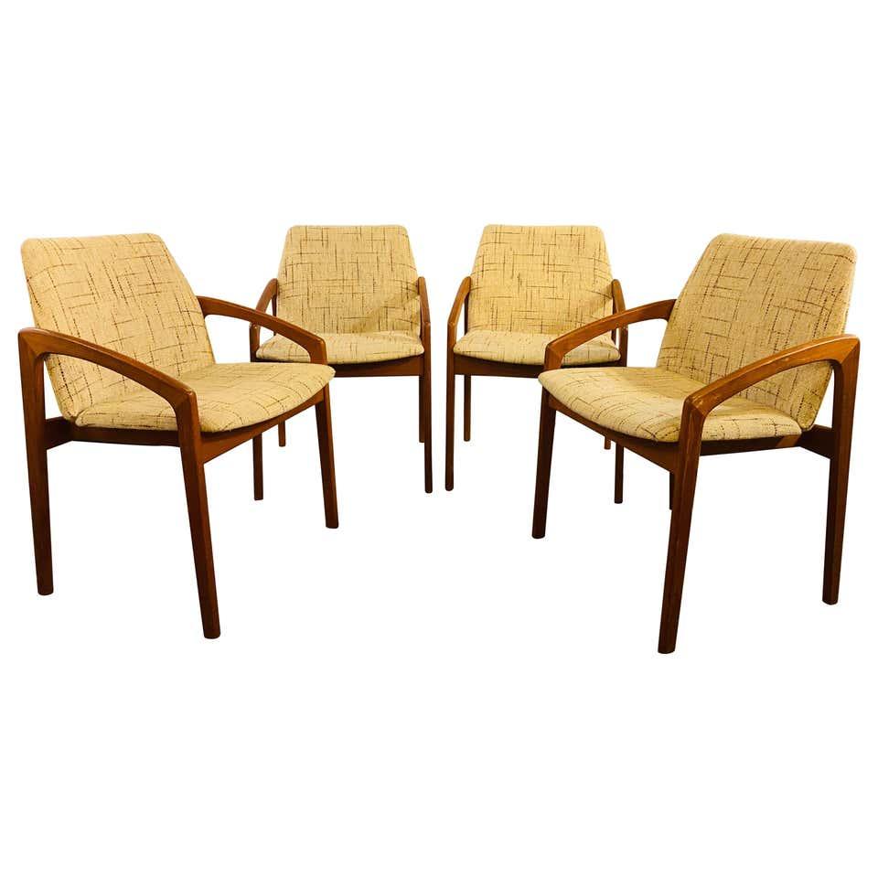 Kai Kristiansen Dining/Side Chairs, Set of Four