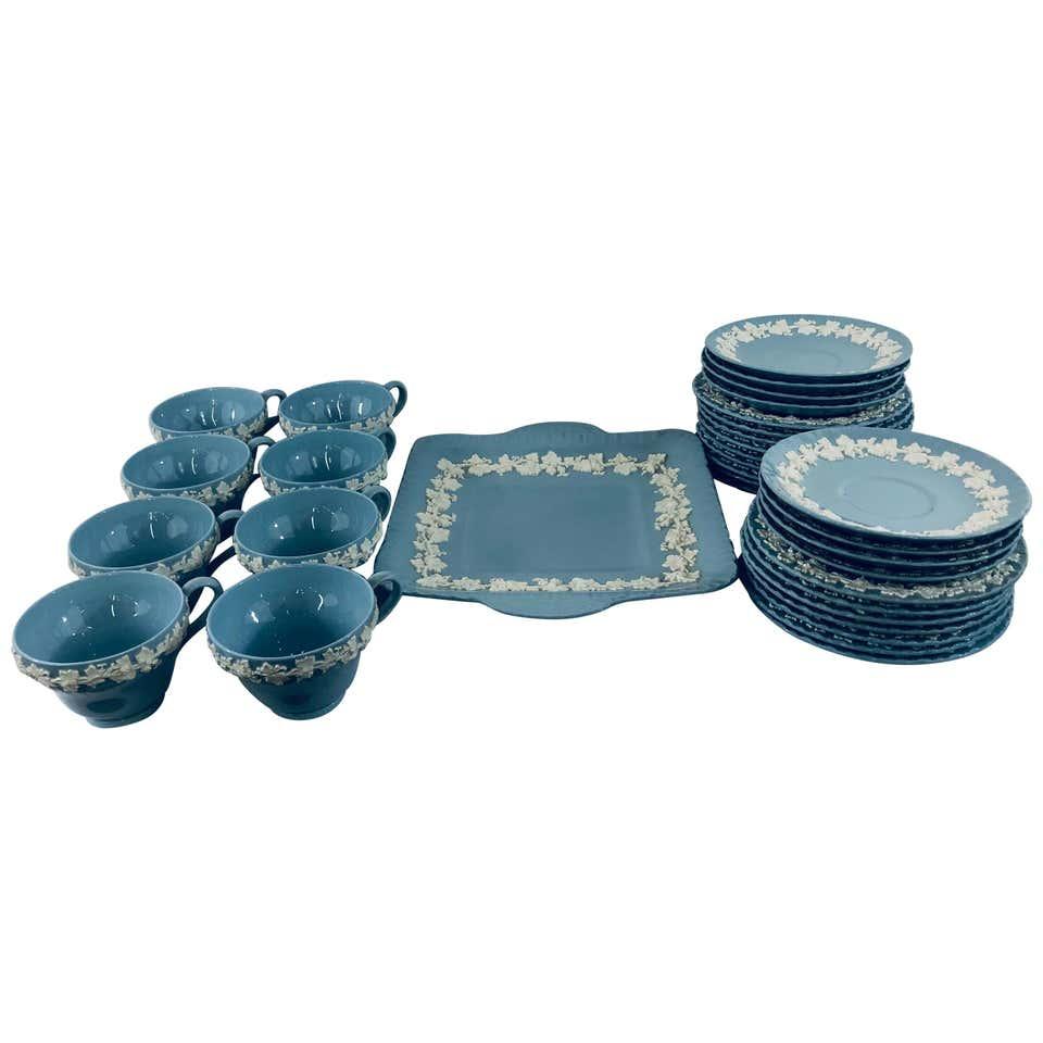 Wedgwood Blue Jasperware Tea Set , 4 Pieces