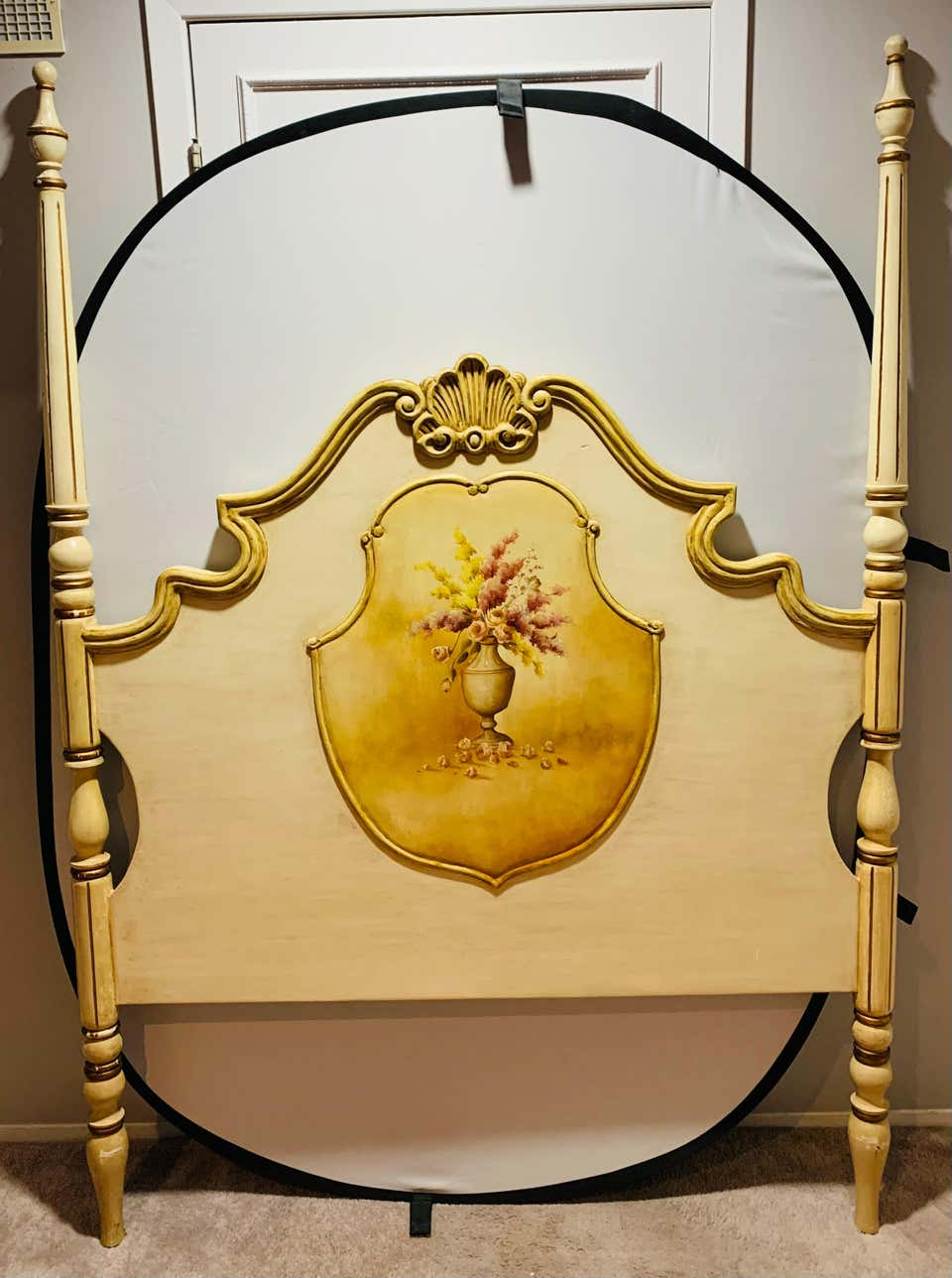 French Provincial Hand Painted Headboard