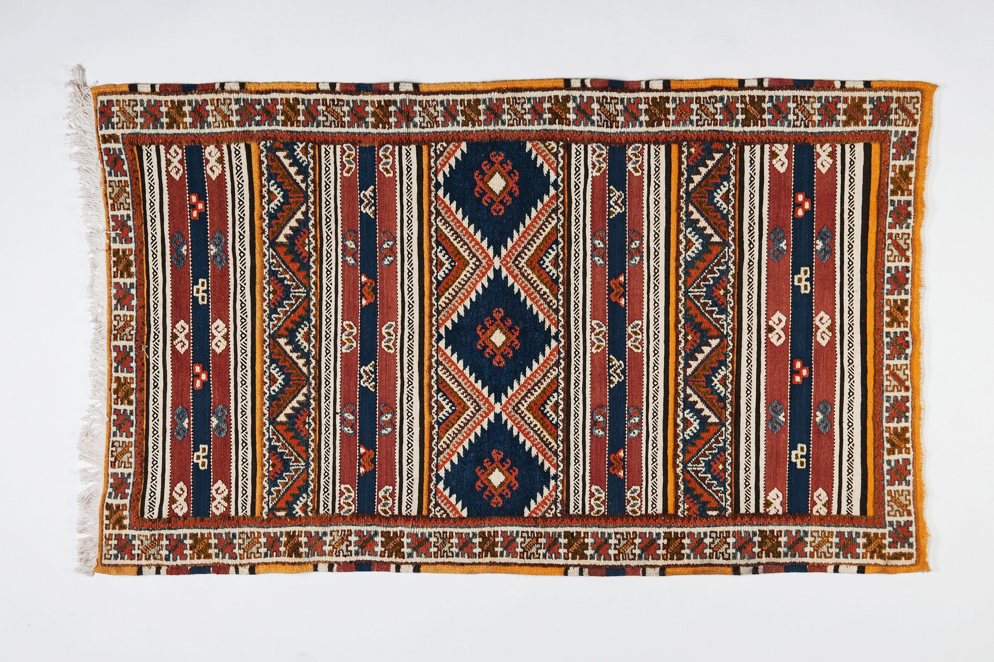 Berber Rug - Handwoven Organic Dye Wool with Abstract Designs