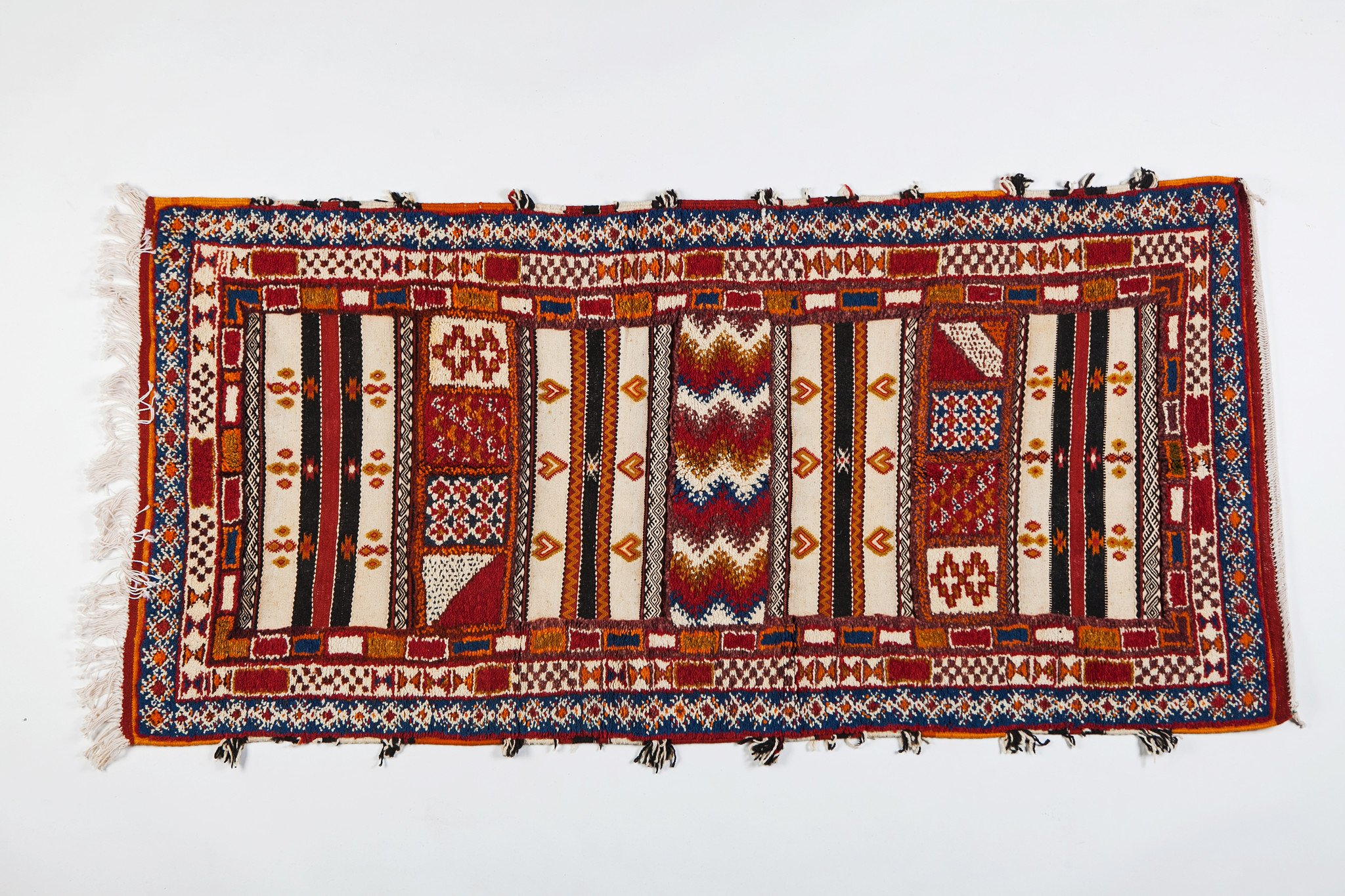 Berber Rug - Handwoven in Morocco with Abstract Design