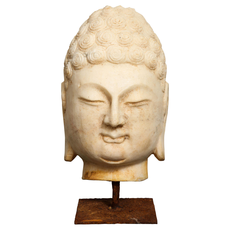 Stone Buddha Bust